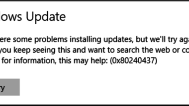 Windows Update Fehlercode 0x80240437