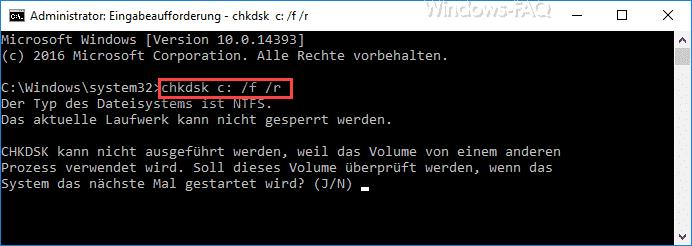 Chkdsk Parameter
