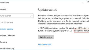 Fehler 0x800704c7 beim Windows Update