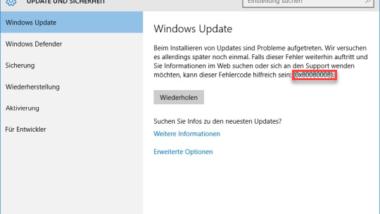 Windows Update Fehlercode 0x80080008