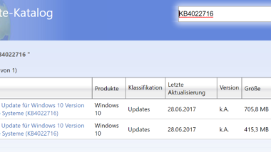 KB4022716 Update für Windows 10 Version 1703 Creators Update Build 15063.447