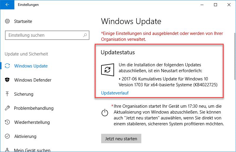 Update KB4022725