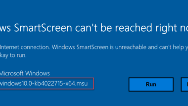 Windows SmartScreen can´t be reached right now
