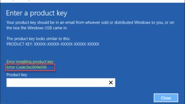 0xc004e016 Windows Aktivierungsfehler