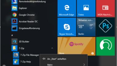 """Die Funktion """"Deinstallieren"""" aus dem Windows 10 Startmenü entfernen"""