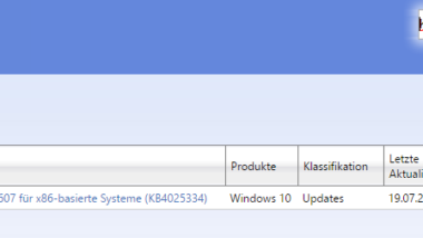 KB4025334 für Windows 10 Version 1607 Anniversary (Build 14393.1532) erschienen