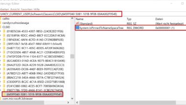 Papierkorb im Windows 10 Explorer anzeigen
