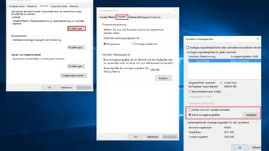 Windows Auslagerungsdatei deaktivieren