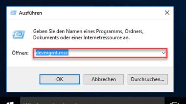 Windows Gerätemanager schnell aufrufen