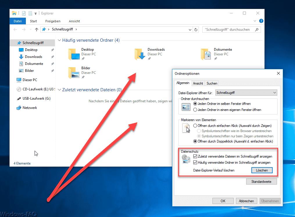 Datei Explorer Verlauf löschen