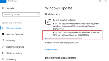 Update KB4034674 für Windows 10 Version 1703 Creators Update (Build 15063.540)