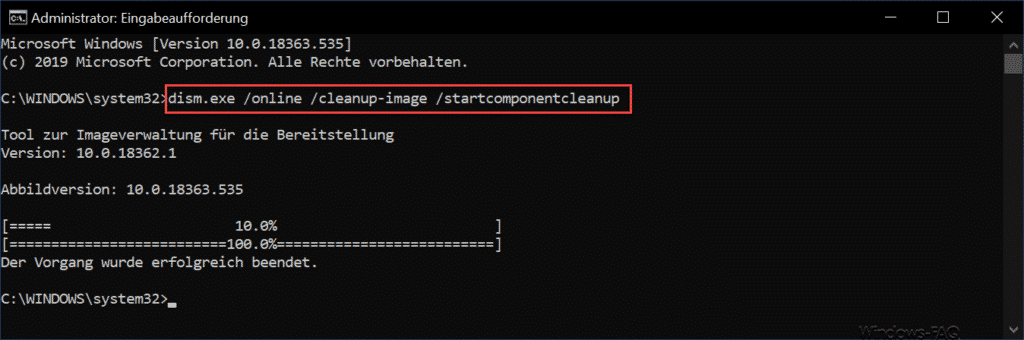 dism cleanup-image