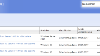 KB4038782 kumulatives Update für Windows 10 Version 1607 Anniversary (Build 14393.1715)