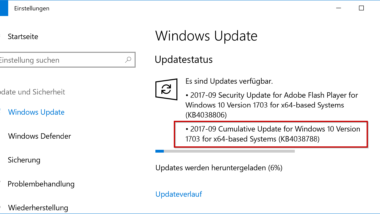 KB4038788 Update für Windows 10 Version 1703 Creators Update (15063.608)