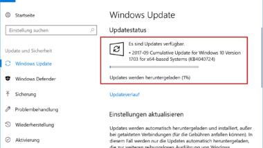KB4040724 für Windows 10 Creators Update erschienen – Windows 10 Build 15063.632