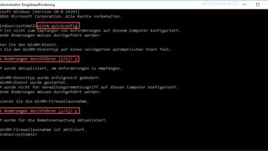 Mit WINRM den Windows Client für Remote PowerShell Kommandos verbereiten