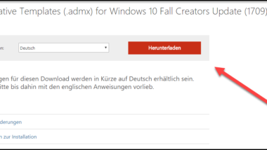 Administrative ADMX Templates für Windows 10 Fall Creators Update 1709 – Download