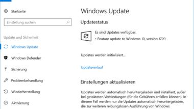 Feature Update auf Windows 10 Version 1709 Fall Creators Update (Build 16299.15)