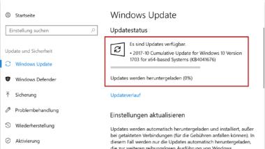 KB4041676 Update für Windows 10 Version 1703 Creators Update erschienen (Build 15063.674)