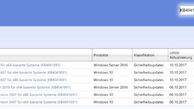 KB4041691 Update für Windows 10 Version 1607 Anniversary erschienen – Build 14393.1770