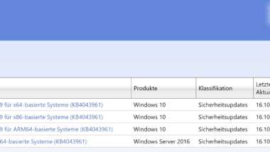 KB4043961 Update für Windows 10 Version 1703 Fall Creators Update Build 16299.19