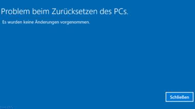 Surface 4 Pro – Problem beim Zurücksetzen des PC´s – USB Bootprobleme
