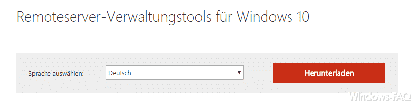 RSAT für Windows 10 Fall Creators Update