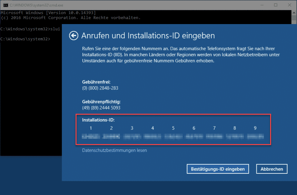 Windows Aktivierung SLUI 4