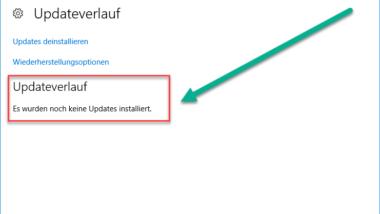 Windows Updateverlauf löschen bei Windows 10