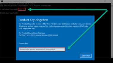 Aktivierung von Windows Fehlercode 0xc004e003