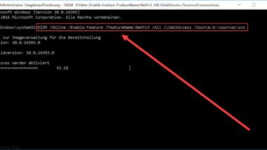 0x800F0954 Fehlercode bei Installation vom .Net Framework 3.5
