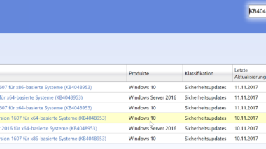 KB4048953 für Windows 10 Version 1607 und Windows Server 2016 (Build 14393.1884)