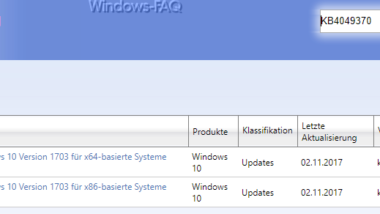 KB4049370 für Windows 10 Creators Update Build 15063.675 Download