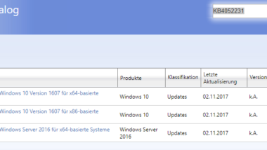 KB4052231 für Windows 10 Anniversary Version 1607 erschienen – Build 14393.1797