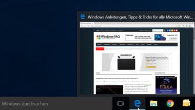 Vergrößern der Vorschaubilder (Miniaturansicht) in der Windows Taskleiste