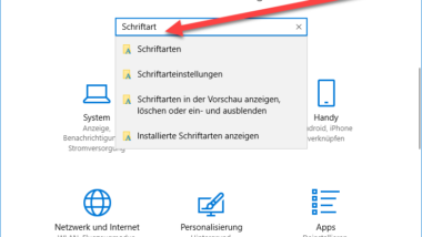 Neue Schriftarten unter Windows 10 installieren