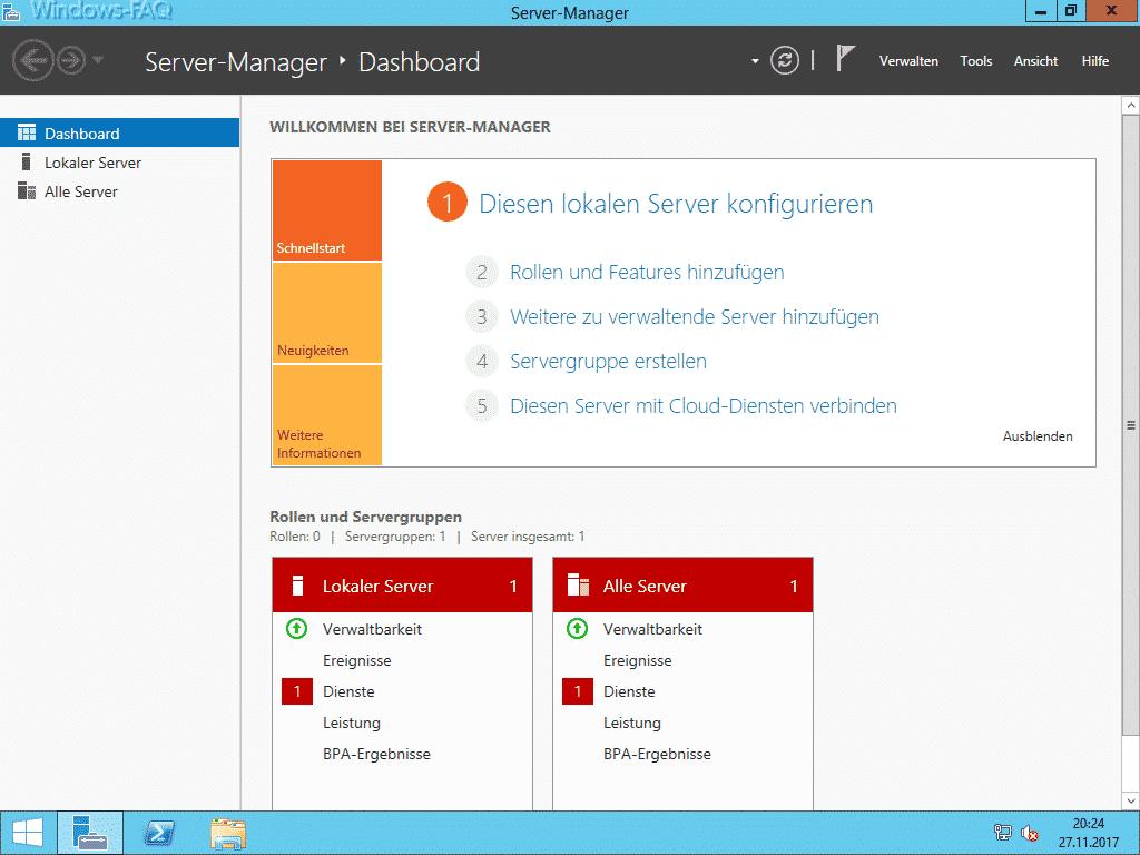 Server Manager Windows Server
