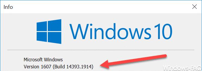 Version 1607 Build 14393.1914