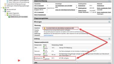 Windows Performance Report erzeugen zur Leistungssteigerung des PC´s