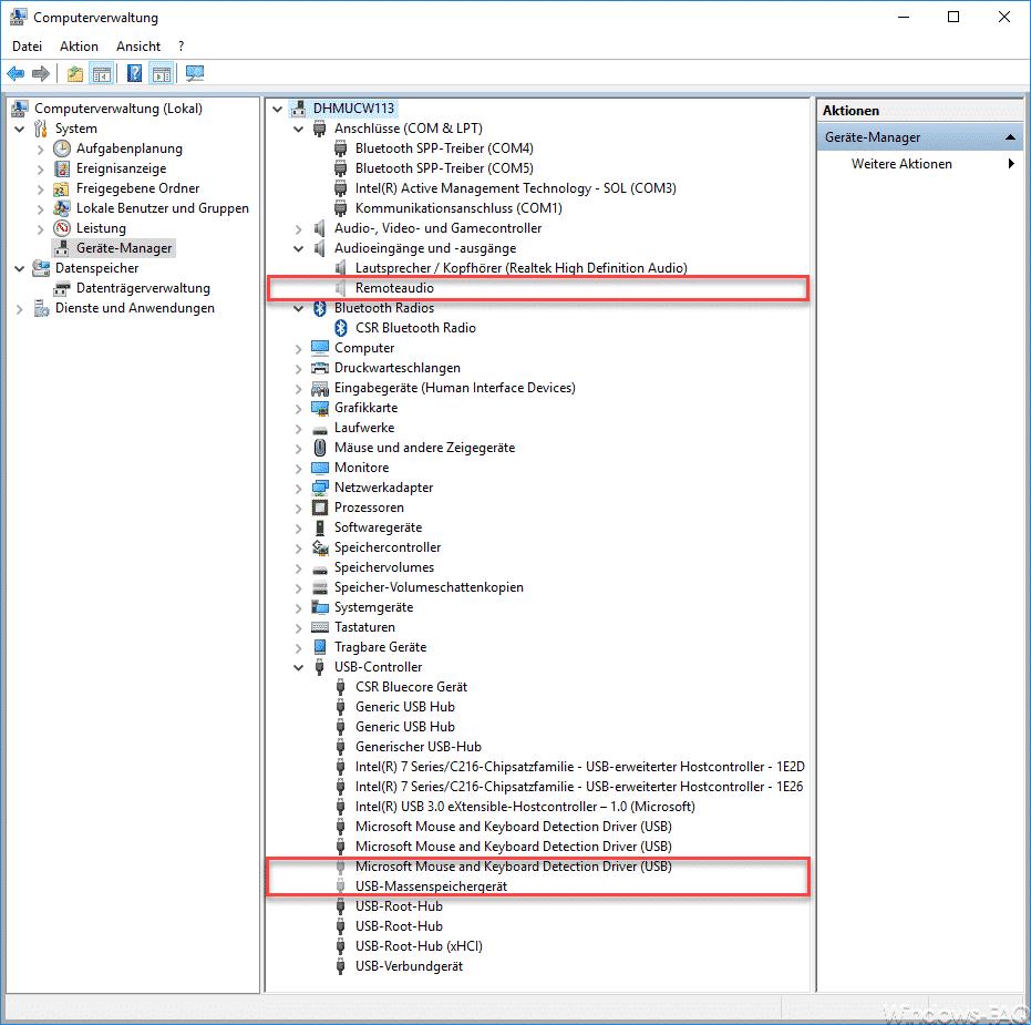 Ausgeblendete und inaktive Geräte im Windows Gerätemanager