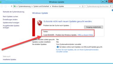 Windows Update Code 8024A000