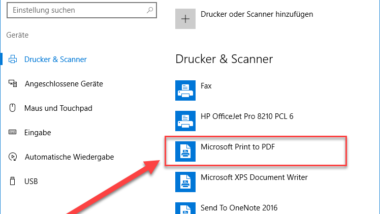 Microsoft Print to PDF aktivieren bei Windows 10