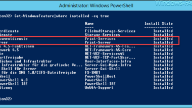 Windows Rollen und Features mit der PowerShell installieren
