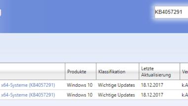 Update KB4057291 für Multi-Monitor-Display Anzeigeprobleme von AMD Grafikkarten veröffentlicht