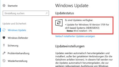 KB4058043 erhöht Zuverlässigkeit des Windows Stores für Windows 10 Version 1709
