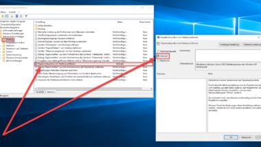 Papierkorb Symbol nicht auf dem Desktop anzeigen