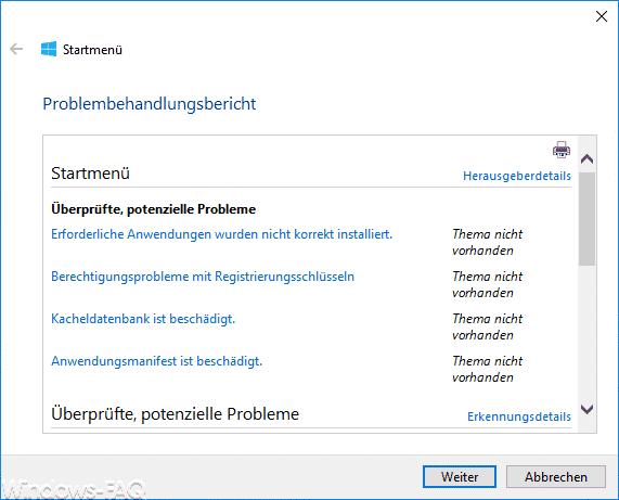Windows 10 Startmenü Übersicht