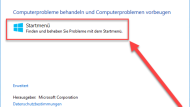 Windows 10 Startmenü Probleme beheben