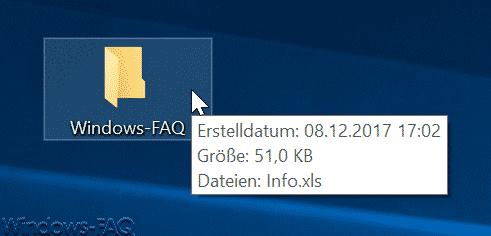 Windows Explorer Anzeige mit Dateigrößen Information