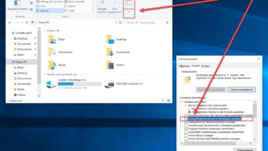 Dateigrößen-Informationen in den Windows Explorer Ordnertipps anzeigen
